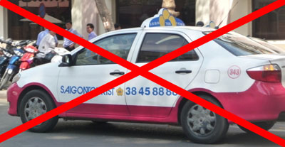 avoid Saigon tourist taxi