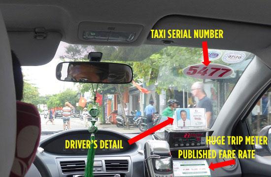 legit taxi interior